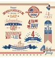 American independence day label set vector image