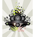 Urban grungy music banner vector image