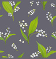 floral seamless pattern with watercolor lily vector image