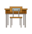 school table and chair of classroom vector image