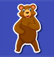 a bear sticker character vector image vector image