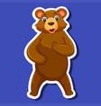 A bear sticker character