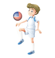 A soccer player from the United States of America vector image vector image