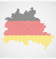 abstract map berlin radial dots with flag vector image