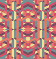 abstract retro geometric pattern vector image vector image