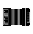 accordion icon black sign on vector image vector image