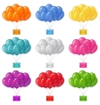 Balloons bunches with letters set vector image