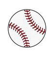Baseball ball sign colored vector image