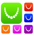 bead set color collection vector image vector image