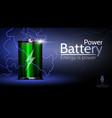 beautiful energy battery vector image