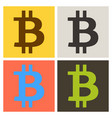 bitcoin sign icon for internet money crypto vector image