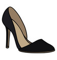 black high heel shoe vector image vector image