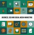 business seo and social media marketing vector image