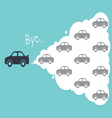 car cloud leadership concept vector image vector image