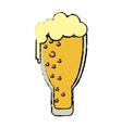 cartoon saint patrick day frosty glass beer vector image