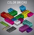Color Bricks vector image