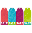 color christmas labels with sale offer vector image