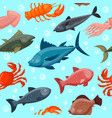 colorful under water world animals wallpaper with vector image vector image