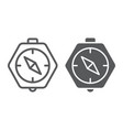 compass line and glyph icon geography and vector image vector image