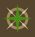 Compass rose with north south east and west