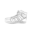 contour shoes cartoon sneaker vector image vector image