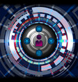 cyber digital social vector image vector image