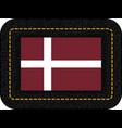 denmark orlogsflaget variant flag icon on black vector image vector image