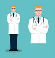 doctor male flat vector image