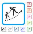 education progress framed icon vector image vector image