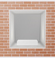 empty niche realistic brick wall clean vector image vector image
