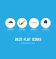 flat icon technology set of memory transducer vector image vector image