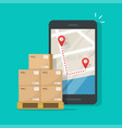 freight or cargo delivery tracking or navigation vector image
