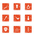 fume icons set grunge style vector image vector image