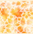 golden autumn watercolor background vector image