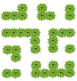 green leaves maze vector image vector image