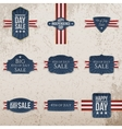 Independence Day realistic Labels Set vector image vector image