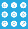 interface outline icons set collection of file vector image