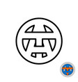 letters a and t monogram logo at or ta initials vector image