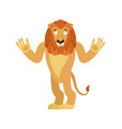 lion confused emoji wild animal is perplexed vector image vector image
