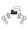 megaphone bubble communication design vector image