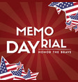 memorial day remember and honor vector image