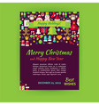 Merry Christmas Holiday Template Banner Flyer vector image vector image