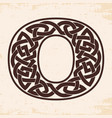 numeral with celtic ornament vector image vector image