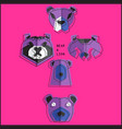 origami bear set vector image