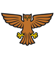 owl with wings spread vector image vector image