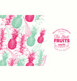 pineapple fruit design template hand drawn vector image