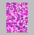 polygonal seamless abstract mosaic triangle vector image vector image