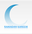 ramadan kareem card with crescent symbol vector image