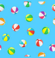 realistic detailed 3d beach ball seamless pattern vector image vector image