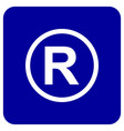 registered trademark icon design vector image vector image